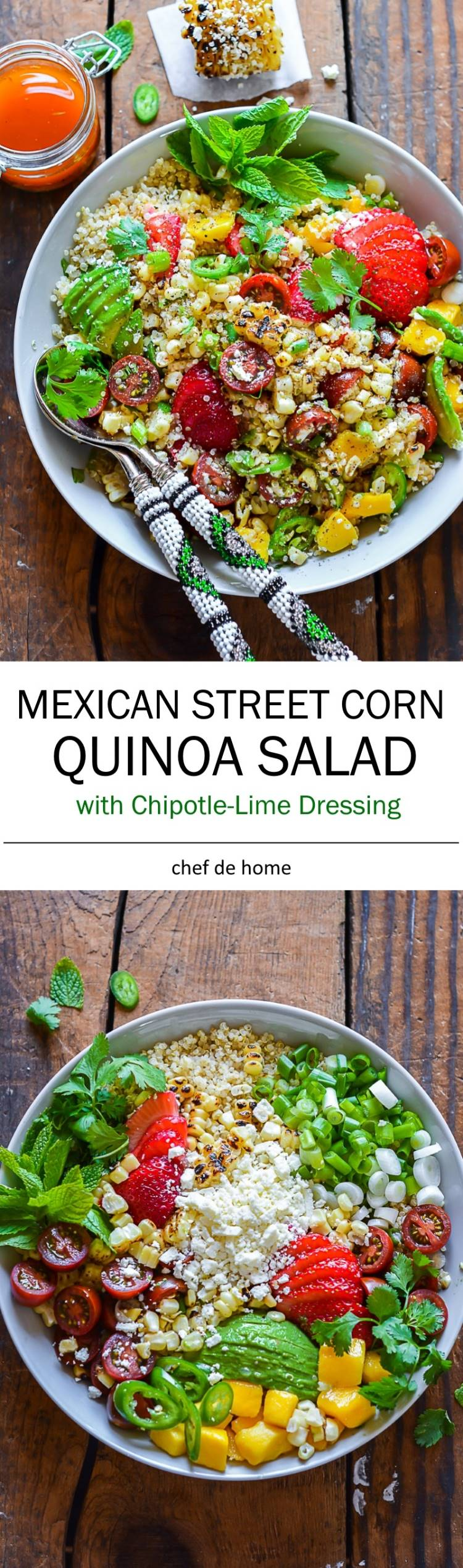 Summer Grilling at its best with Mexican Street Corn and Quinoa Salad | chefdehome.com