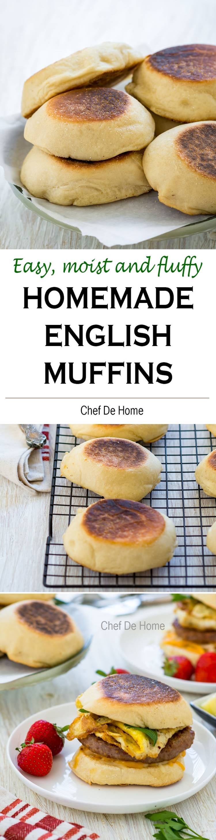 Easy step by step recipe to learn how to make English Muffins | chefdehome.com