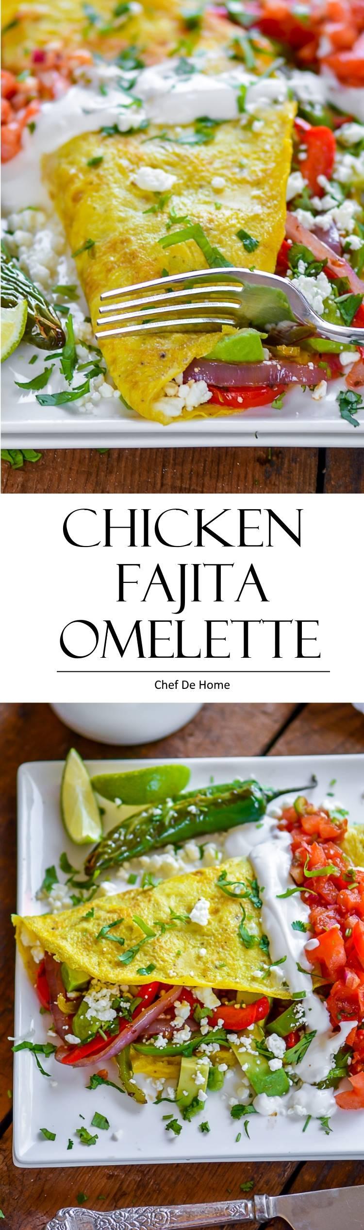 Ihop style Chicken Fajita Breakfast Omelette | chefdehome.com