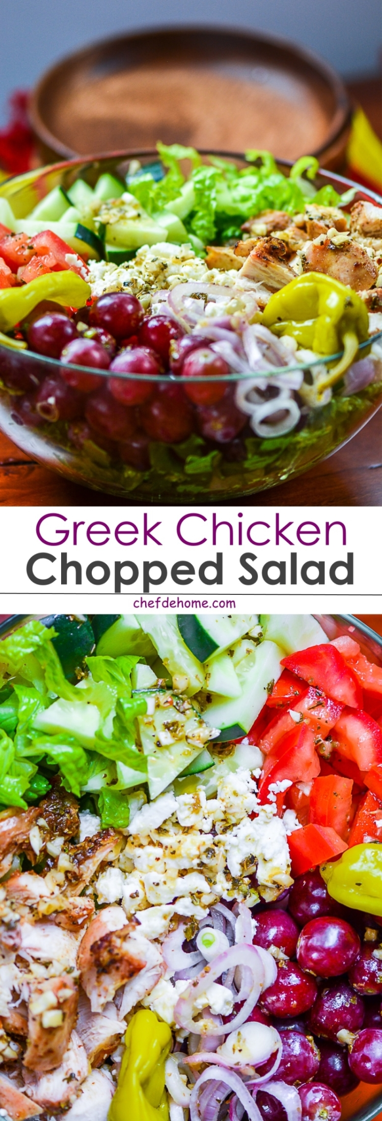 Grrek Chicken Chopped Salad | chefdehome.com