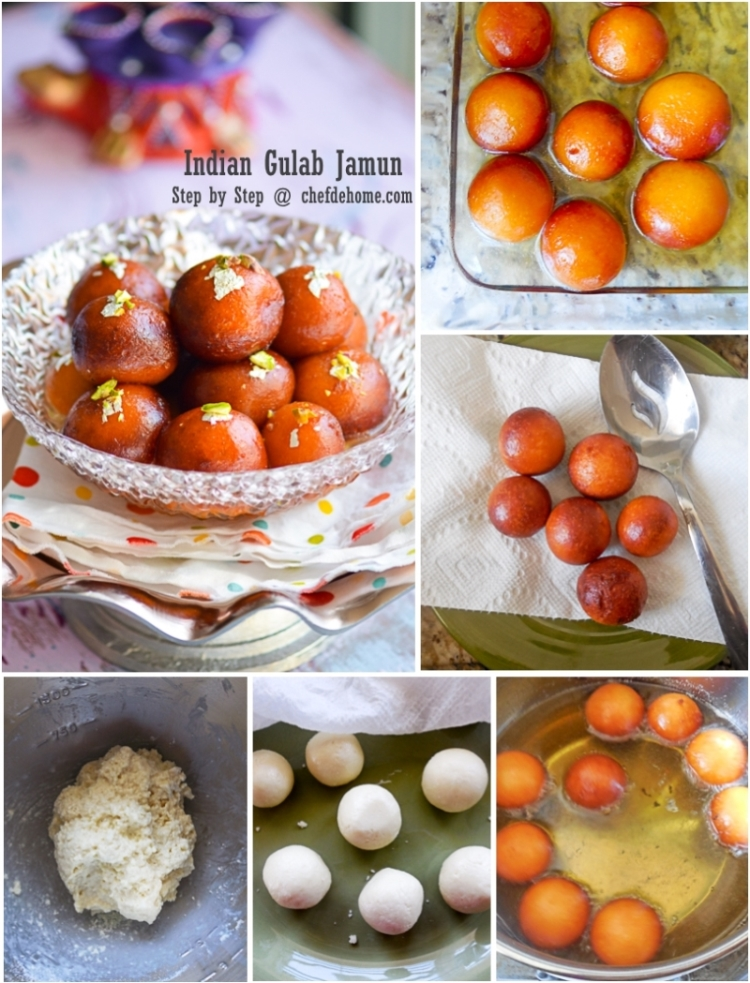 Easy Indian Gulab Jamun on Holi - Step By Step with ChefDeHome