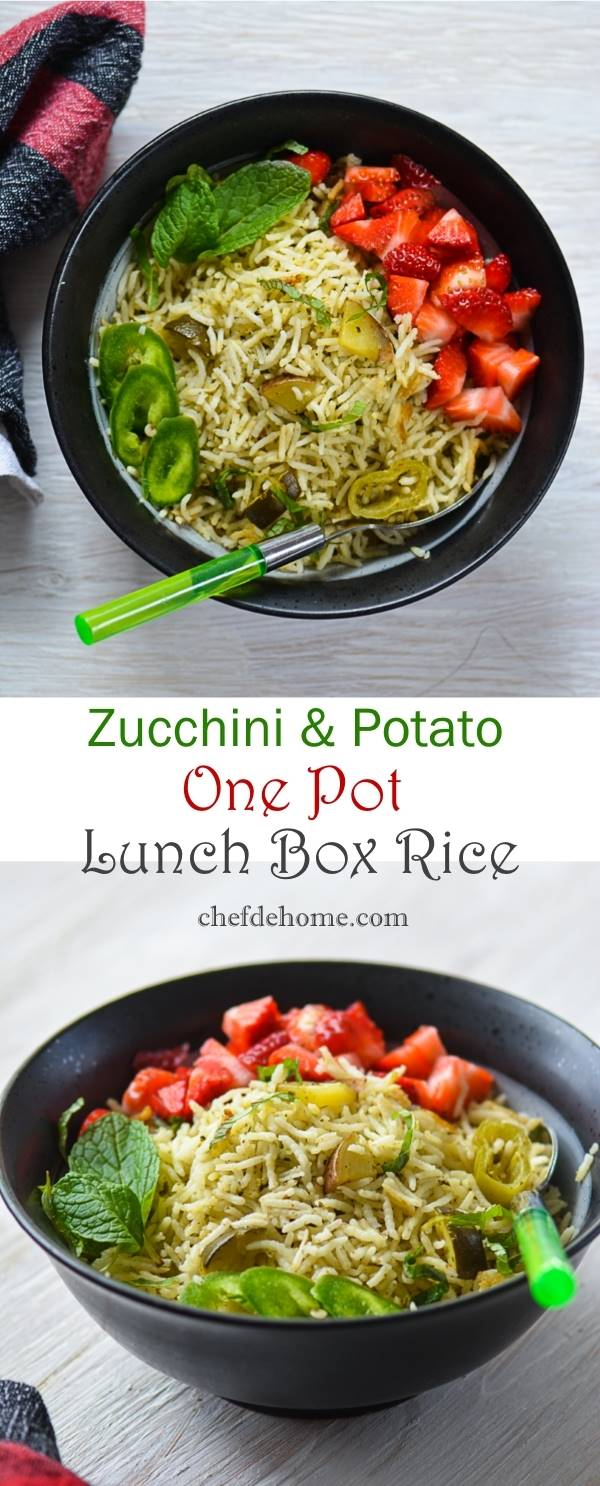 Flavor One-Pot Lunchbox Rice with Zucchini-Potato and Herbs | Chefdehome.com