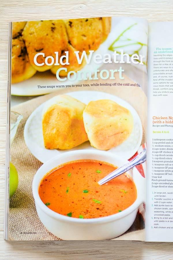 Creamy Tomato Soup Recipe in Go Gluten Free Magazine