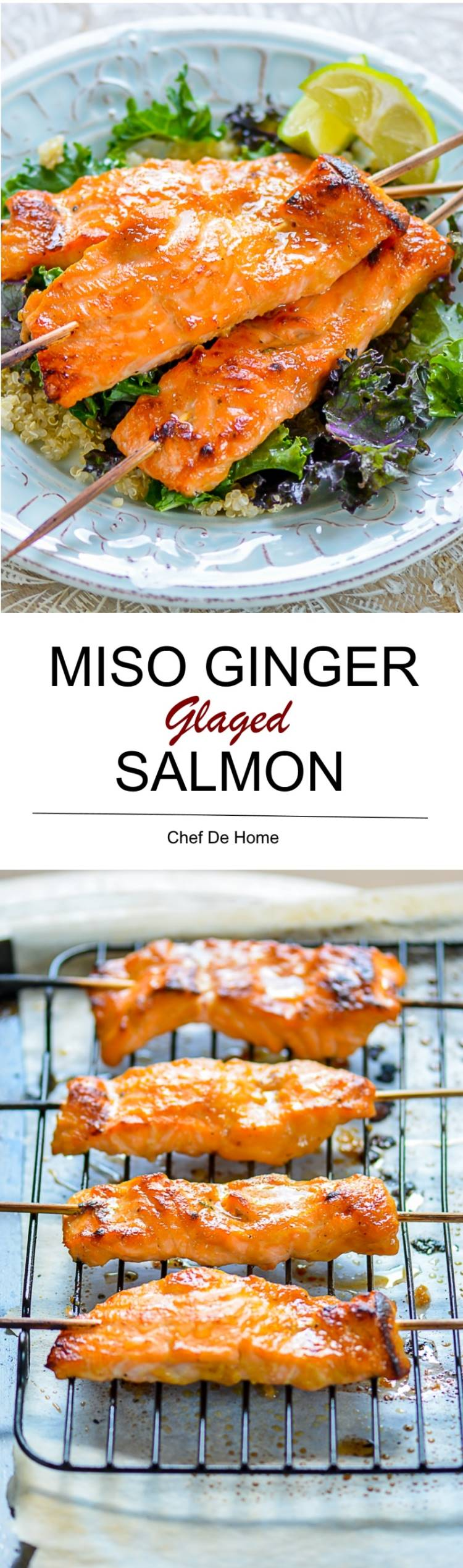 Miso-Ginger Glazed Salmon Recipe — Dishmaps