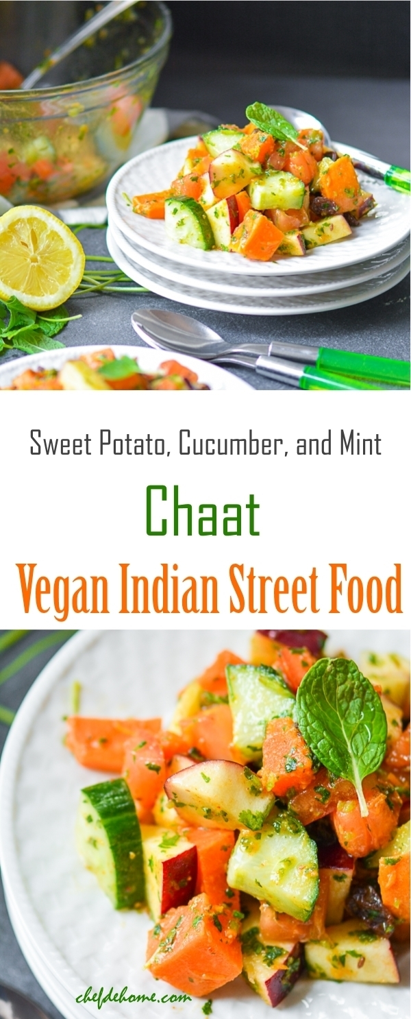 Vegan Indian Street Food - Sweet Potato Chaat for Navratri Fasts