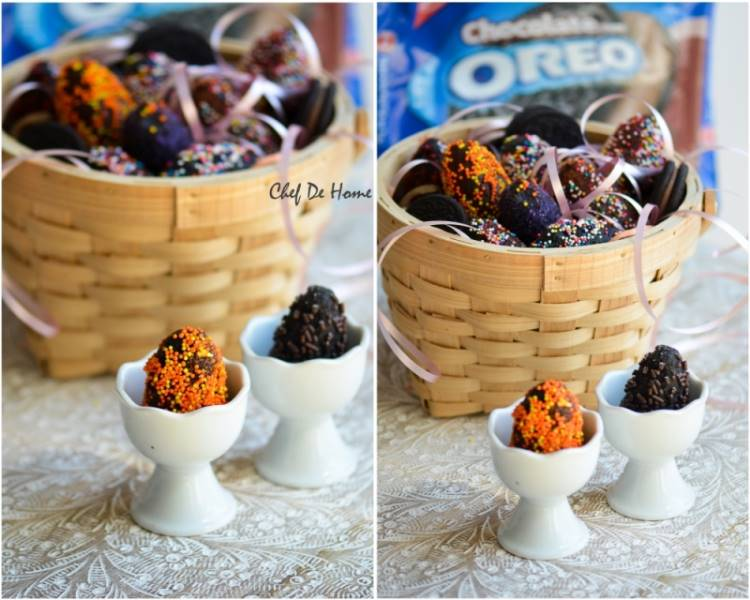 Oreo Cream Cheese Easter Eggs Basket