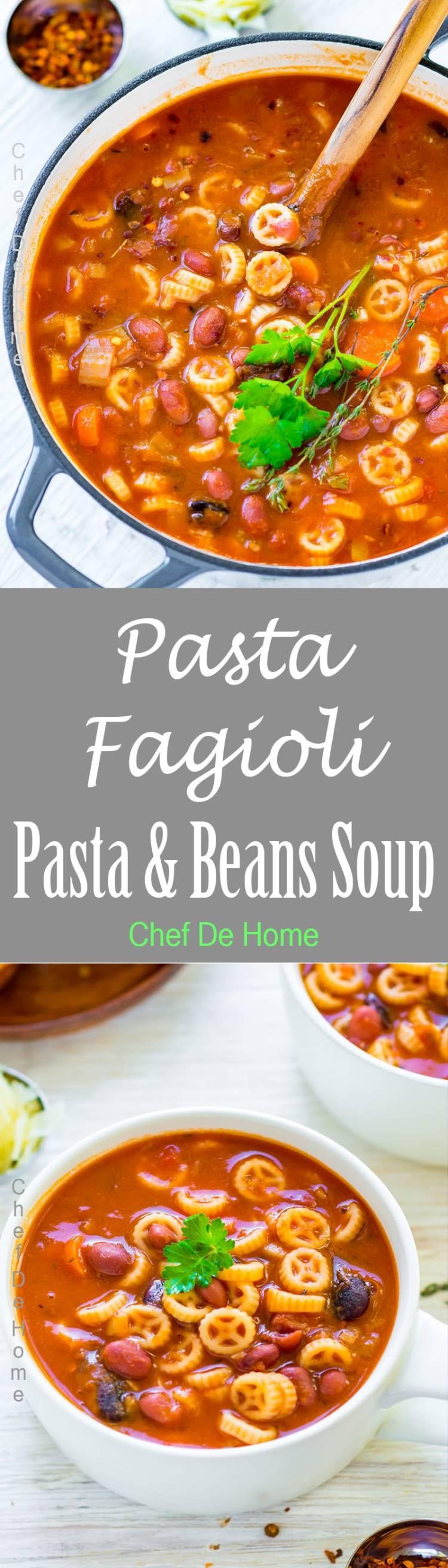 Pasta e Fagioli Soup Recipe | chefdehome.com