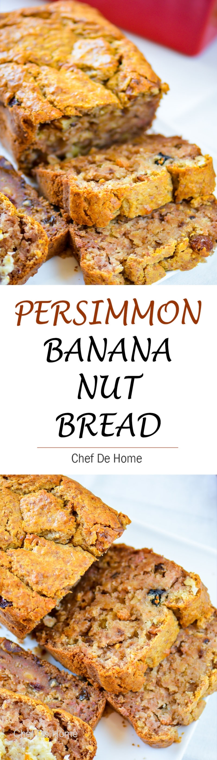 Breakfast for holiday with persimmon banana bread | chefdehome.com