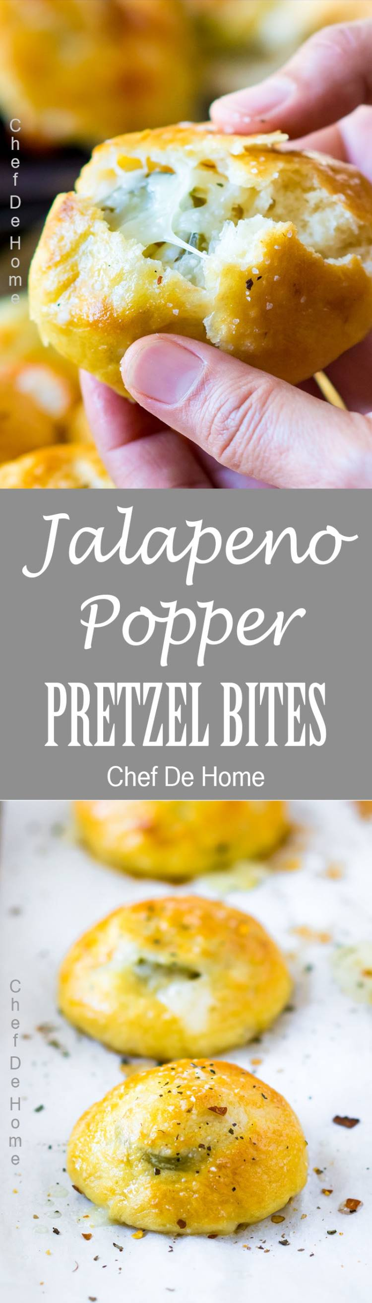 Best appetizer for game day Pretzel Bites with cheesy surprise of Jalapeno Popper in the middle | chefdehome.com