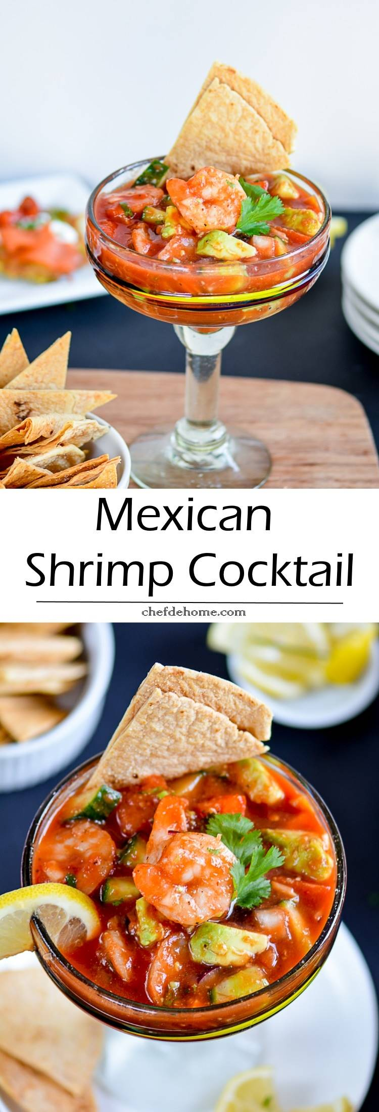 Easy Zesty Mexican Shrimp Cocktail Perfect for Holiday Entertaining | chefdehome.com