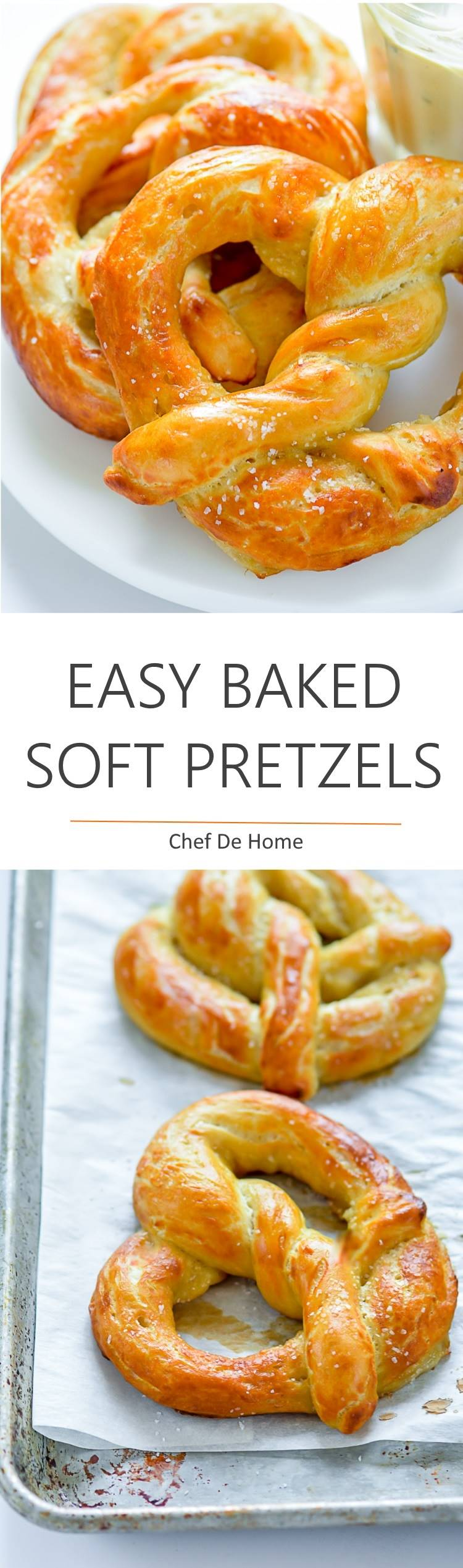 Easy and extra Soft Pretzels favorite of kids and party friendly   chefdehome.com