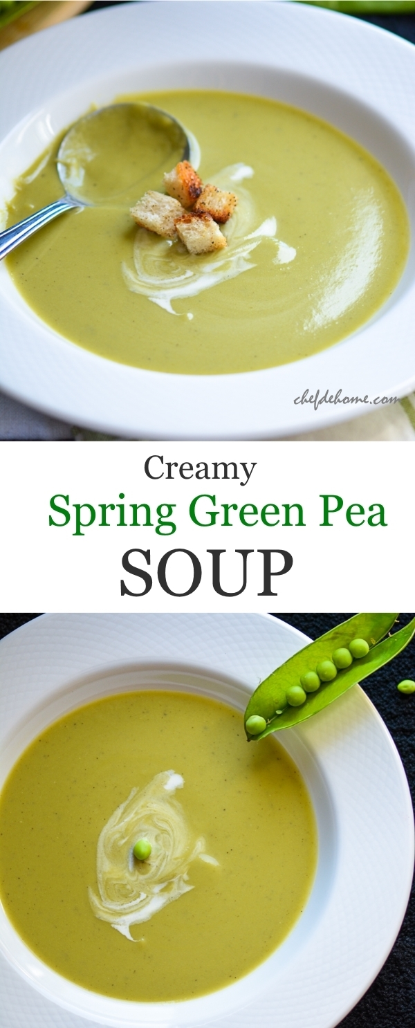 Fresh Spring Green Peas Soup