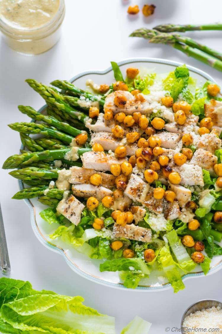 Gluten free and loaded Chicken Caesar Salad