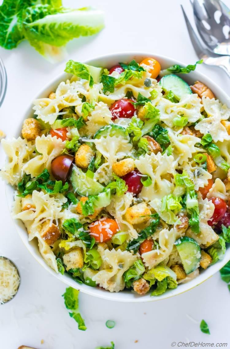 Caesar Pasta Salad Recipe