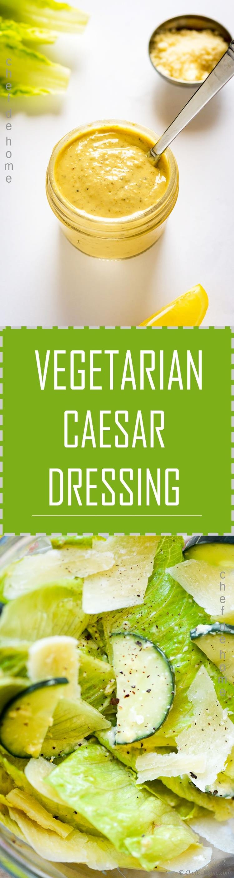 Caesar dressing coated lettuce and cucumber salad