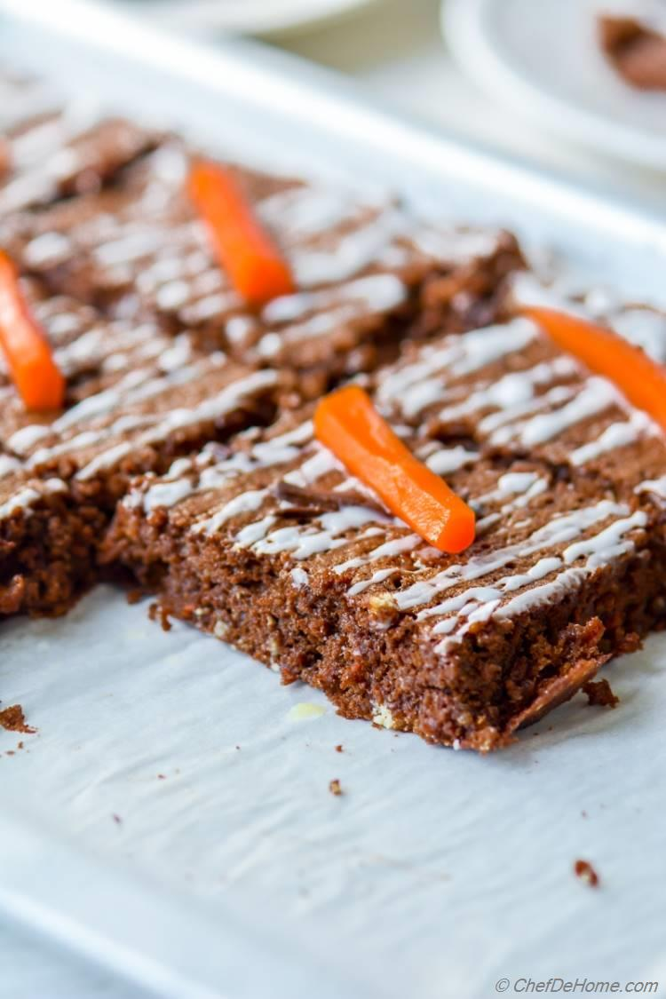 gluten free and dairy free almond butter carrot cake | chefdehome.com