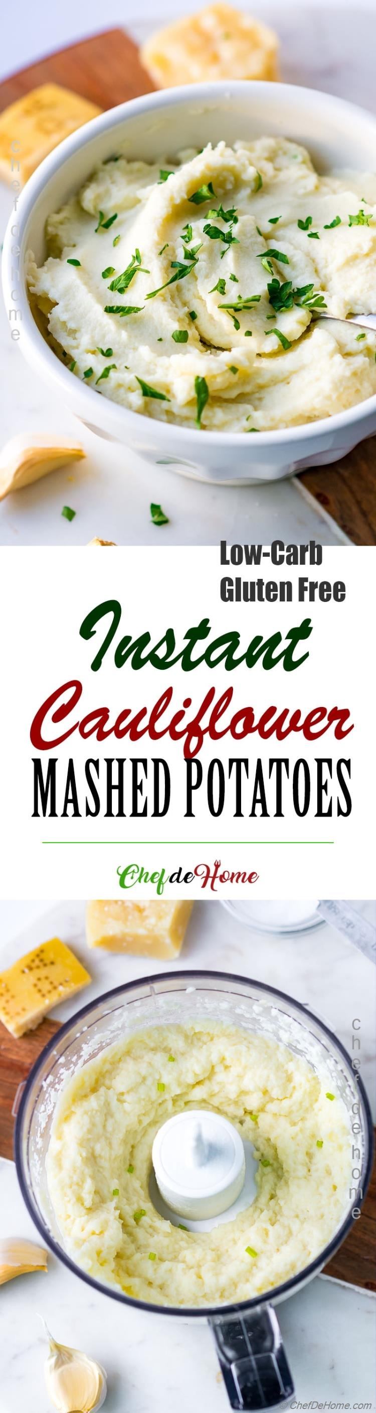 Low Carb Cauliflower Mashed Potatoes