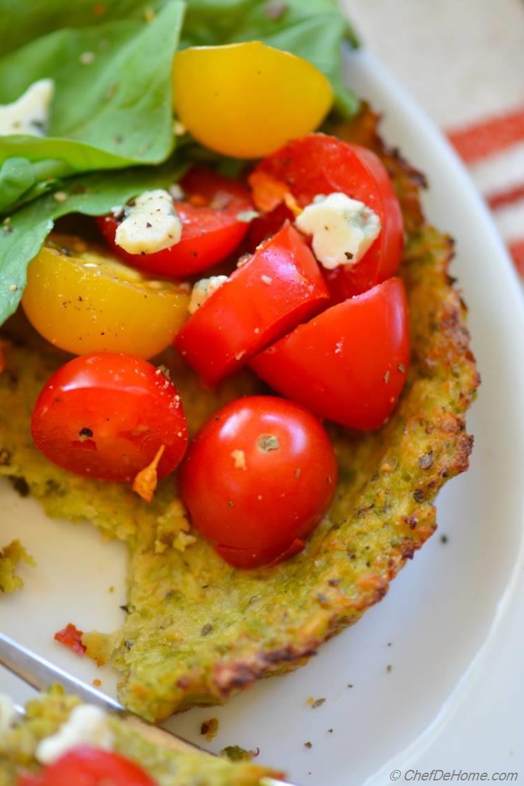Cherry Tomato and Arugula Cauliflower Tarts Recipe