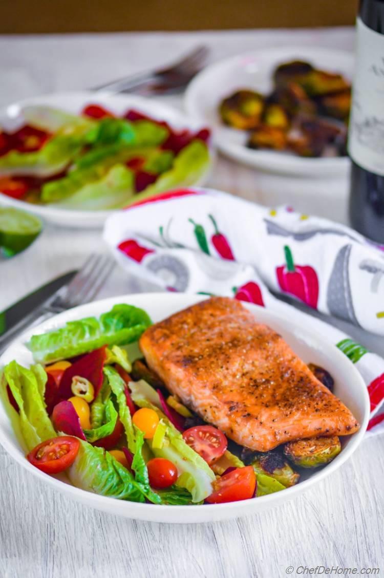 Cedar Plank Smoked Salmon with Lite Beets Salad | chefdehome.com