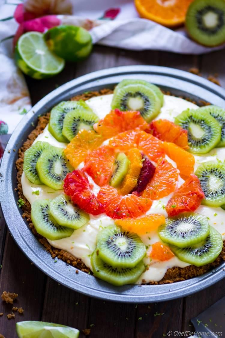 Citrus No-Bake Cream Cheese Pie with 6 ingredients