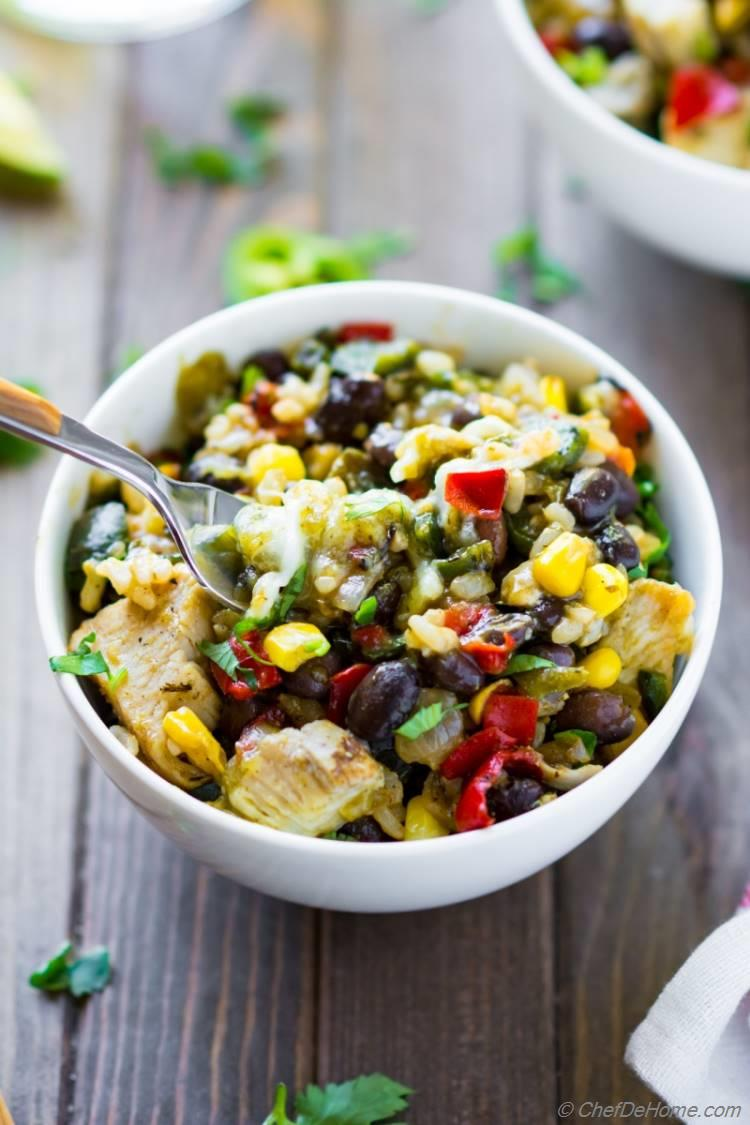 Mexican Style Chicken and Rice Bowl