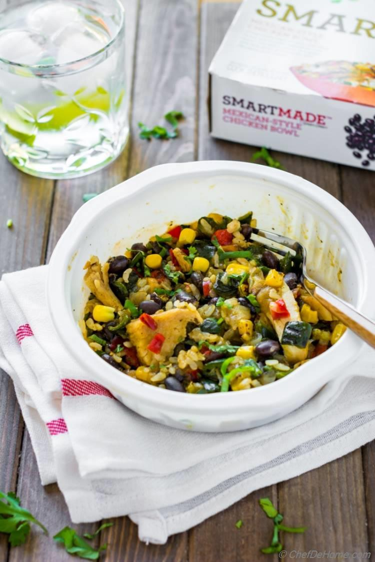 Kraft SmartMade Mexican Style Chicken Bowl and with Brown Rice and Black Beans
