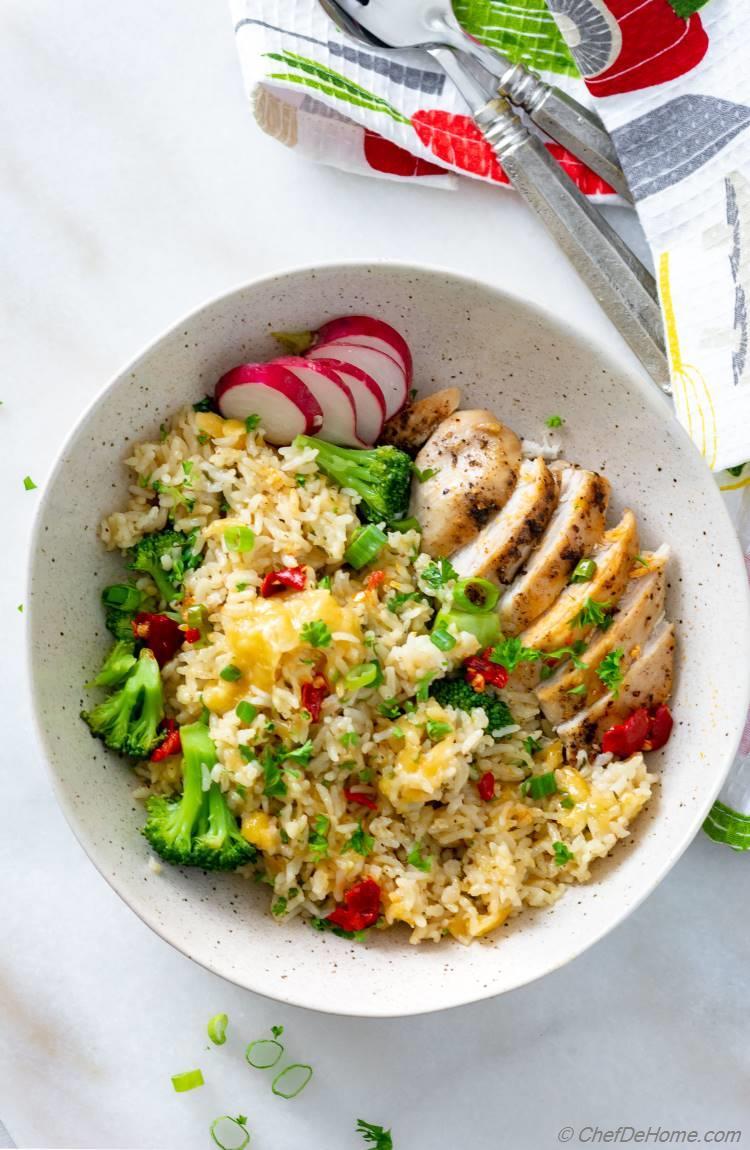 Easy Recipe for Chicken Broccoli Rice prepared in One Pot