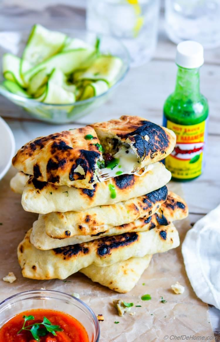 Grilled Hot Cheesy Chicken Calzone