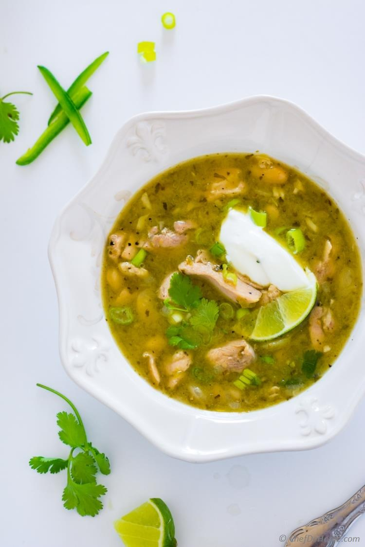Green Chili - Chile Verde with White Beans Soup Cream