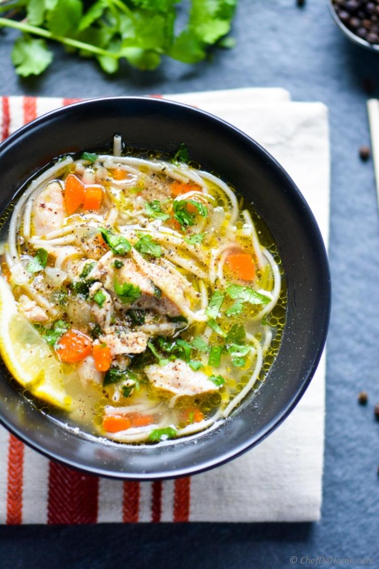 Just 20 Minutes to this Bowl of Chicken Noodle Soup