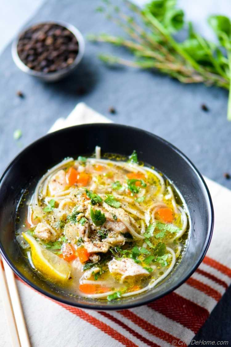Gluten Free Chicken Noodle Soup in 20 minutes in a Pressure Cooker
