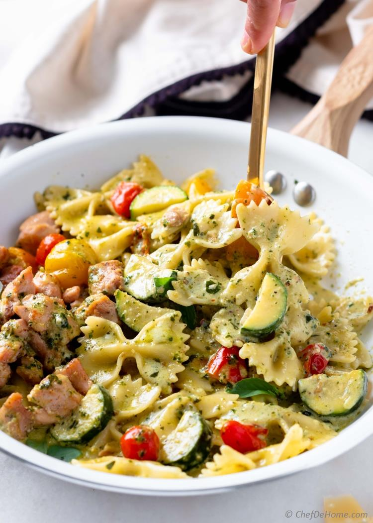 Chicken Pesto Pasta Recipe Chefdehome Com