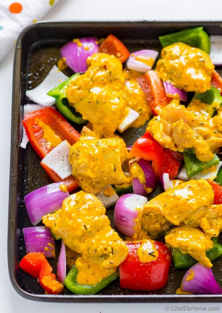 How to Make Chicken Tikka at home in oven