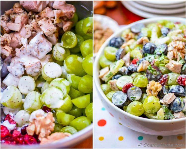 Healthy Lite and Seasonal Waldorf Chicken Salad | chefdehome.com