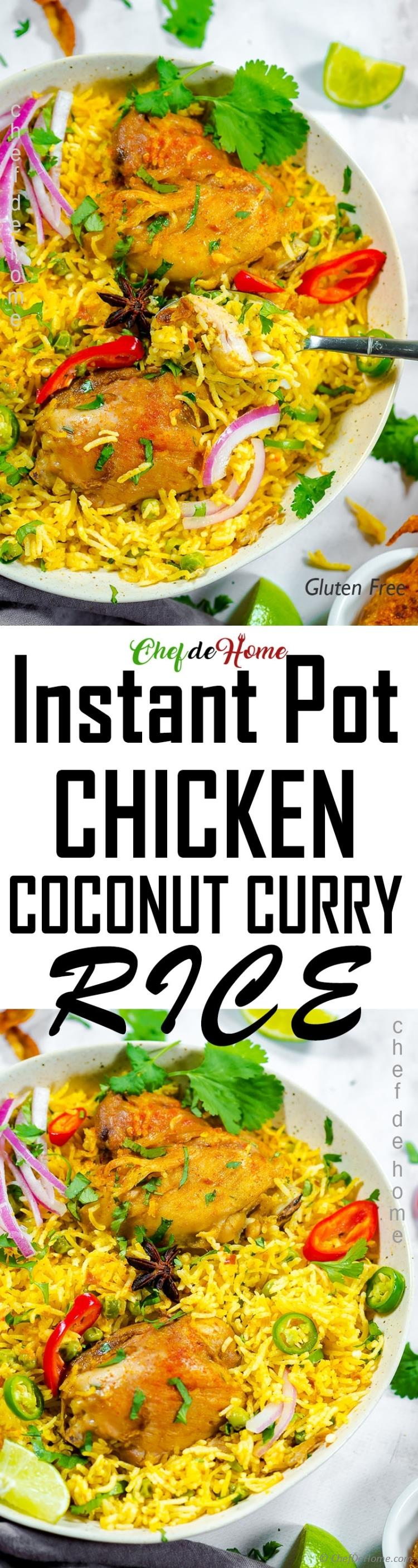 Curried Chicken Rice in Instant Pot