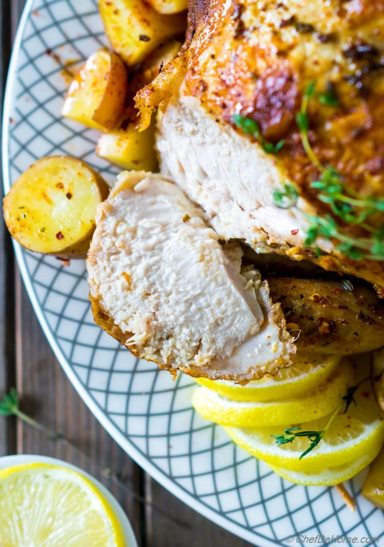 Moist and Juicy Roasted Chicken