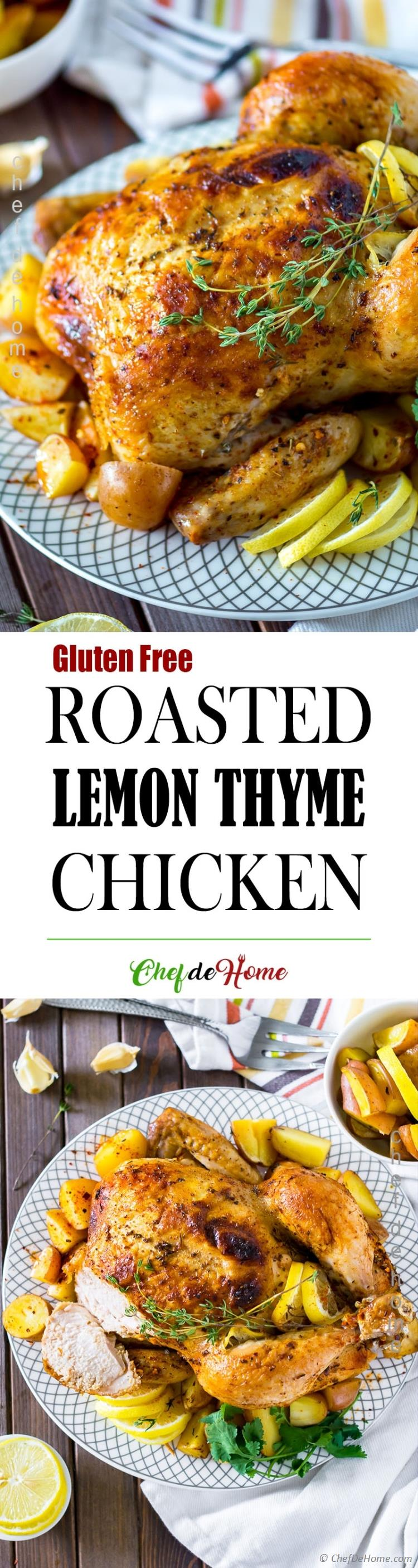 Roasted Whole Chicken with Lemon and Thyme