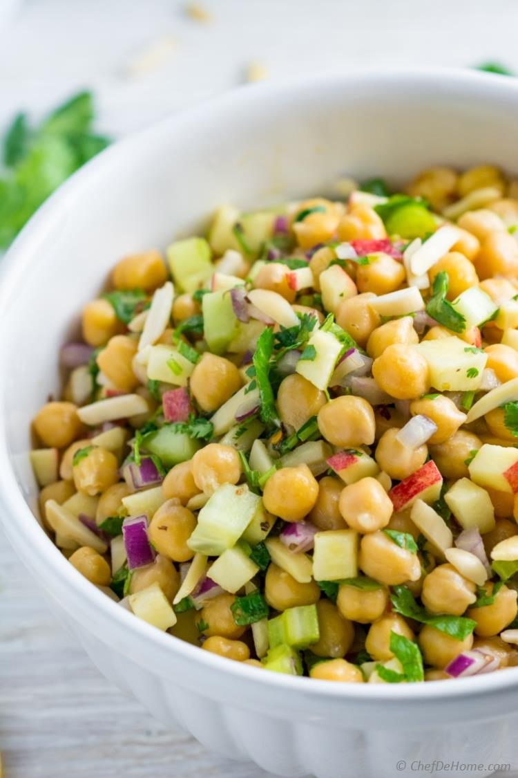 Chickpea Salad with Honey Mustard Dressing | chefdehome.com