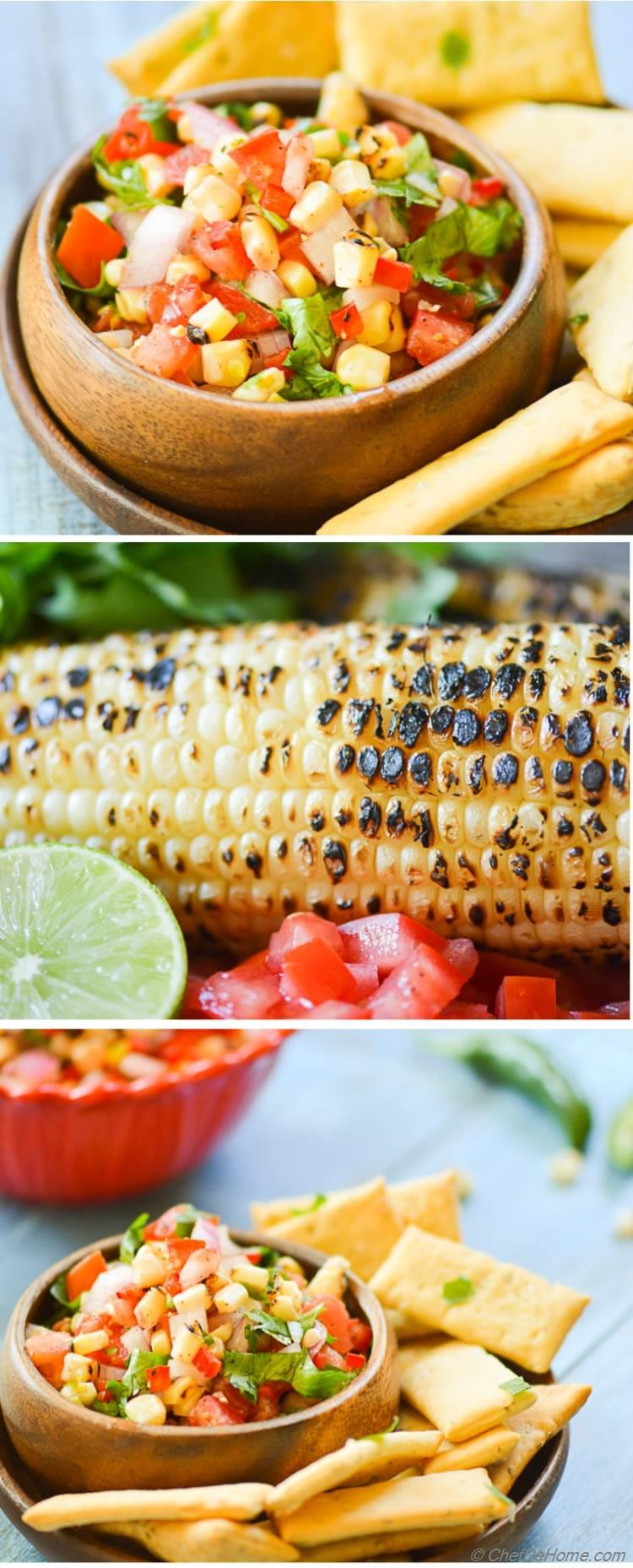 Chipotle Chili Lime Corn Salsa has sweetness of roasted sweet corn and three kinds of chilies for extra kick.