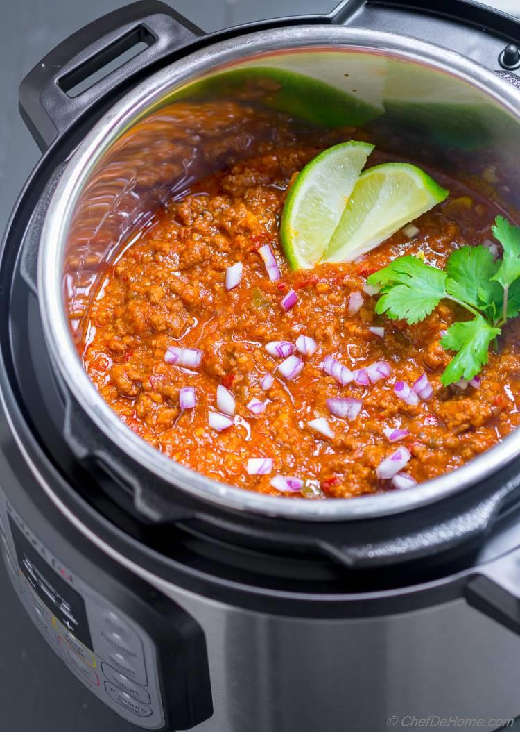 Chili Cooked in Instant Pot