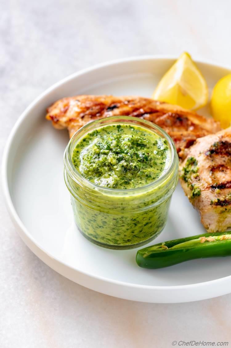 Chimmichurri Recipe with fresh parsley and garlic