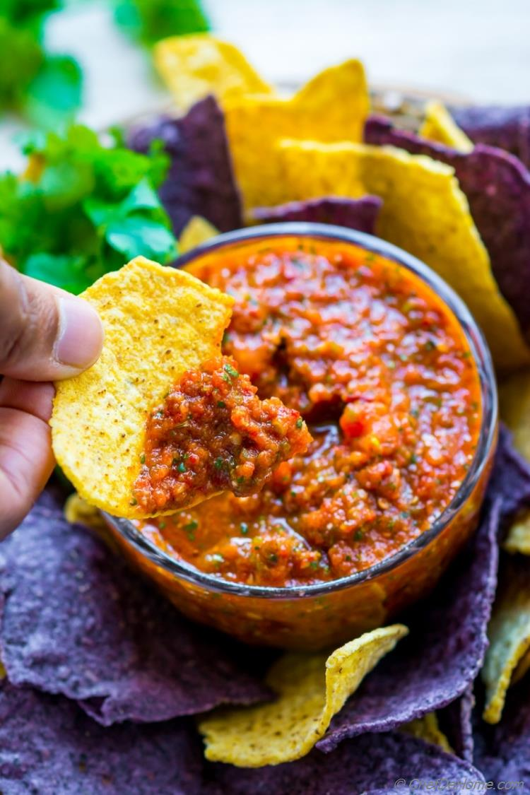 Spicy Chipotle Salsa and Chips