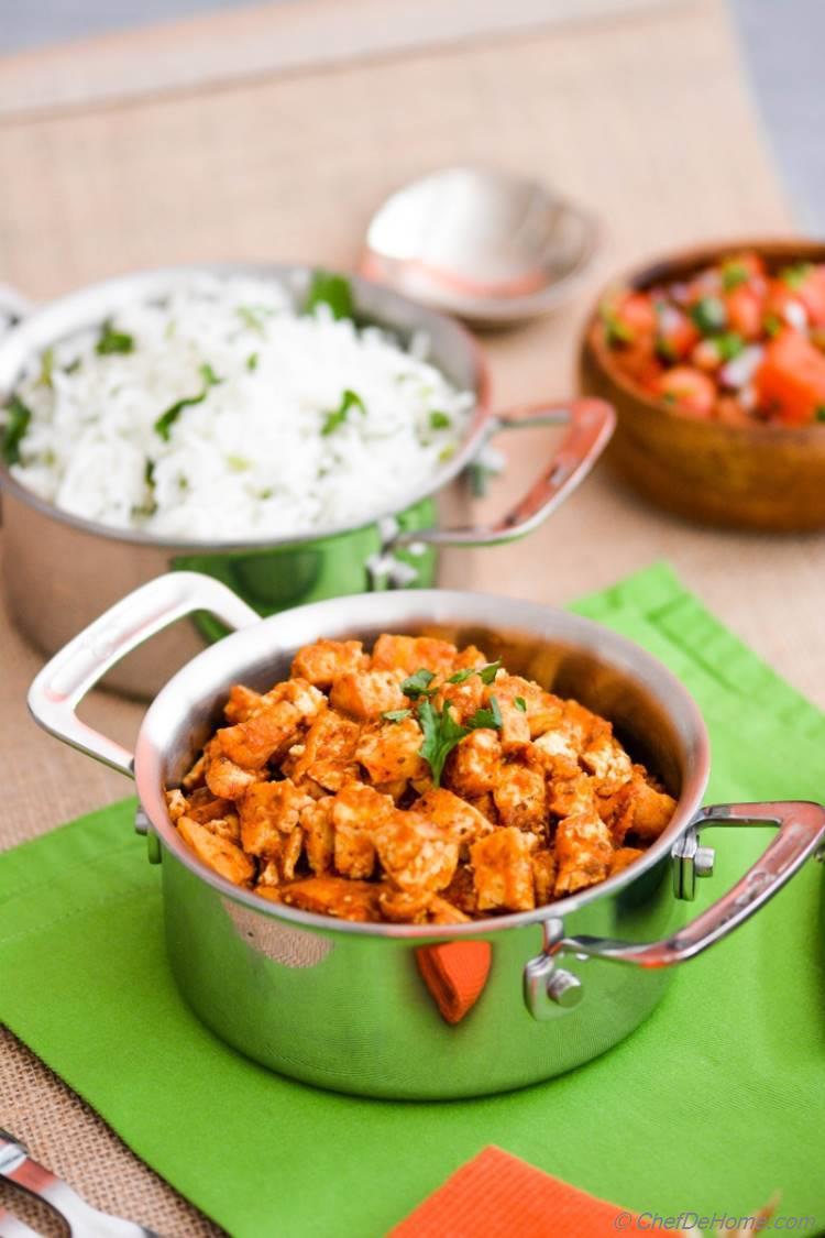 Braised Chipotle Sofritas, vegan tofu sofritas like Chipotle Mexican Grill