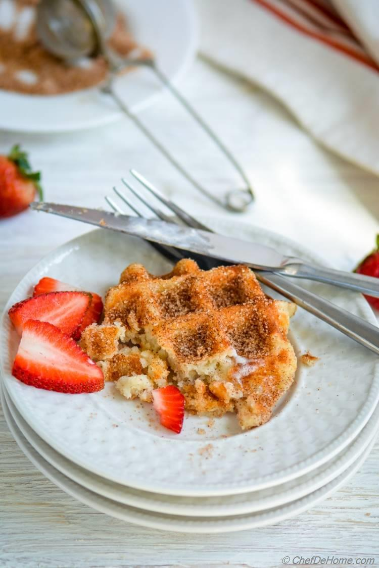 Just 20 minutes for a Crispy Churro Waffles Breakfast for 2 | chefdehome.com
