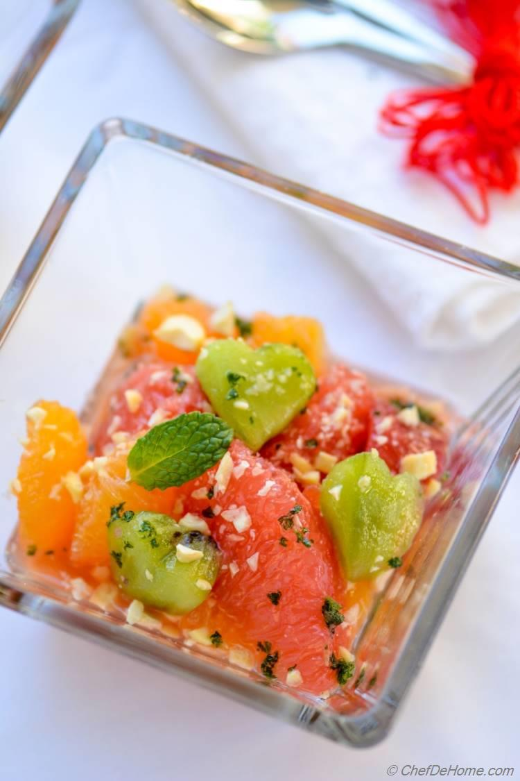 Citrus Salad with Minted Sugar Lite Vegan and Scrumptious