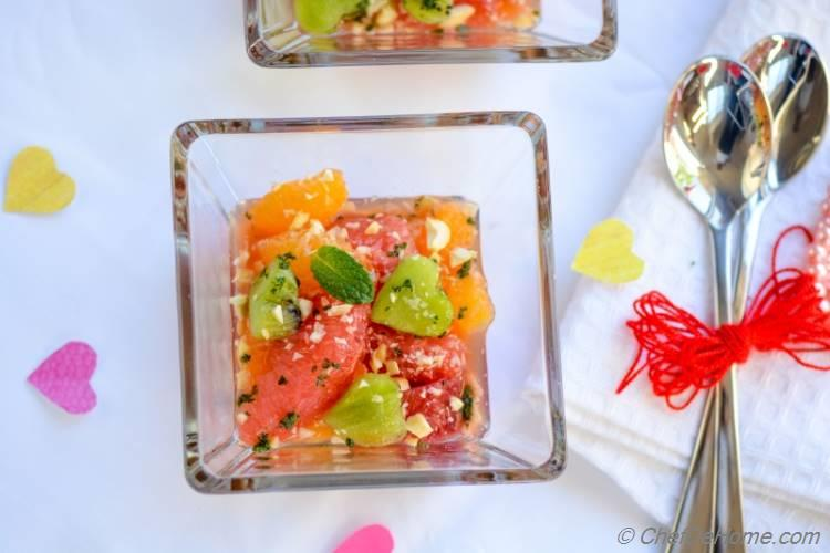 Citrus Salad with Minted Sugar