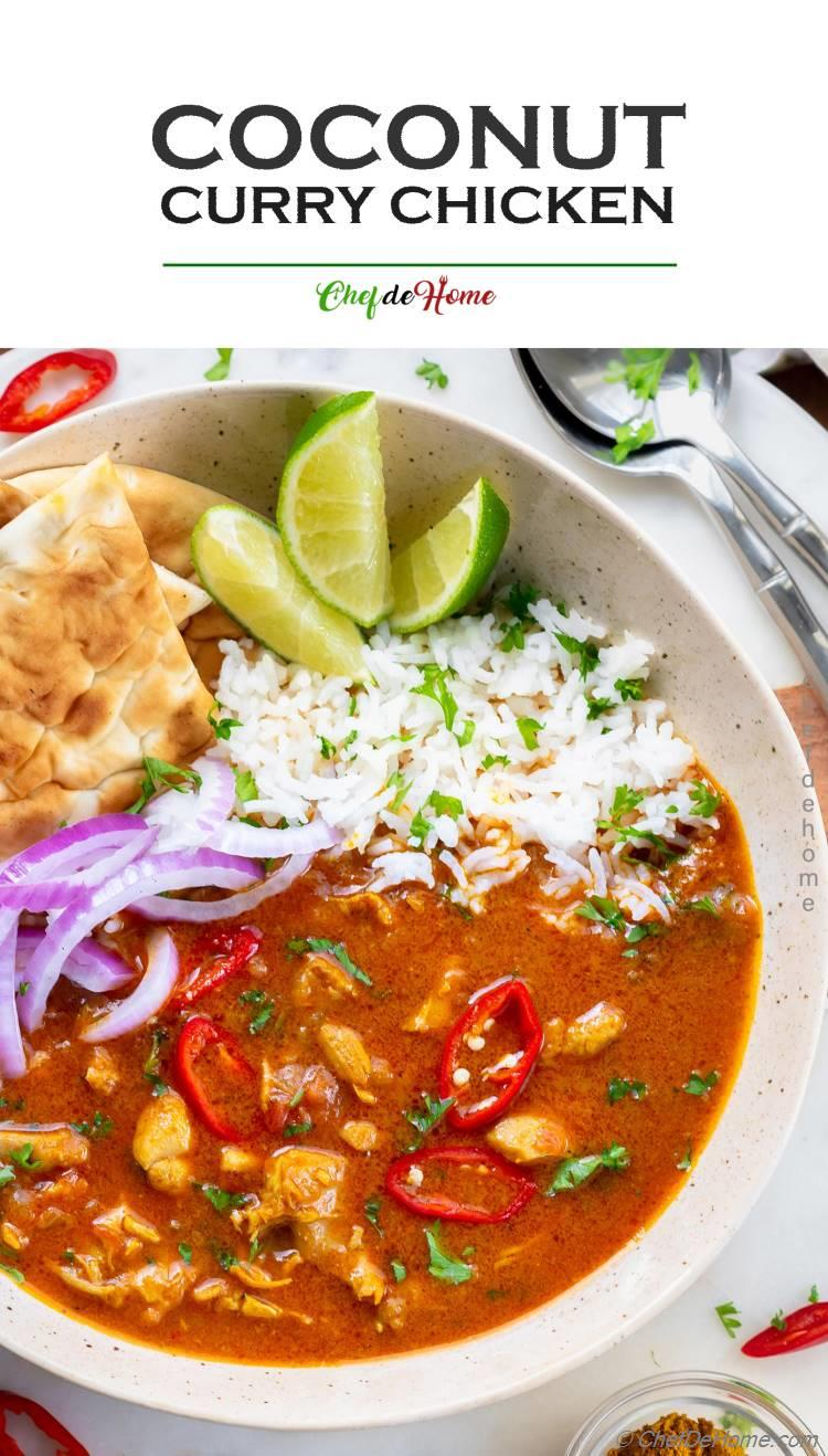 the Best Coconut Curry Chicken Recipe