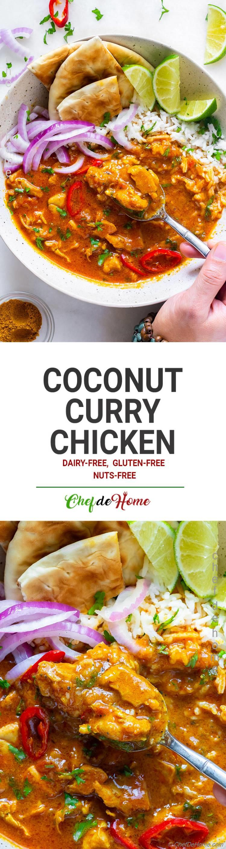 Easy and Delicious Coconut Curry Chicken