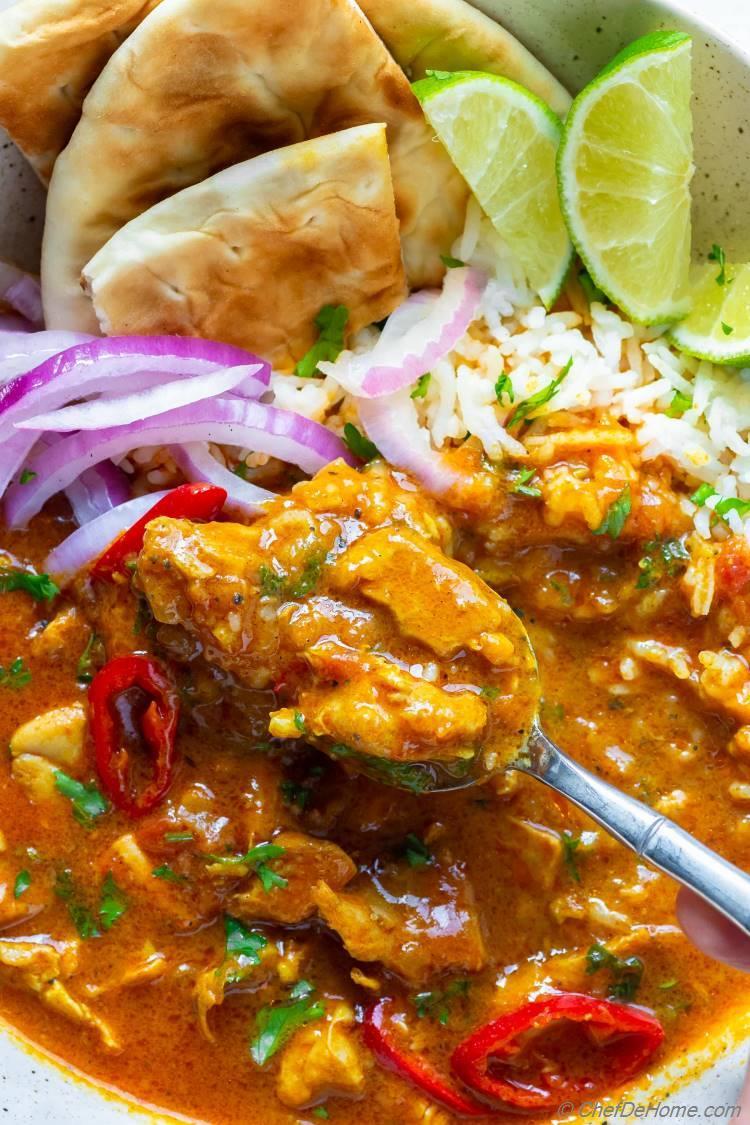 Creamy Chicken Curry with Coconut Milk Recipe