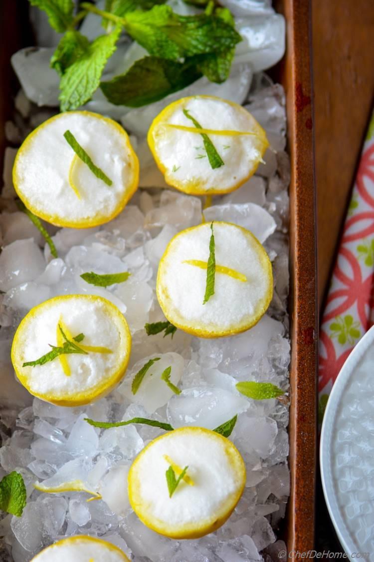 Vegan Dairy Free Gluten Free Coconut Lemonade Sorbet | chefdehome.com